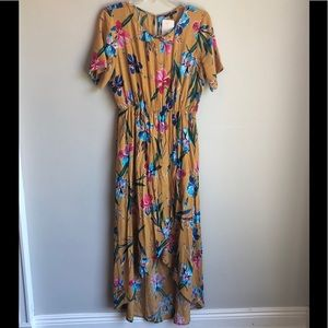 NWT Staccato Asha mustard floral maxi dress